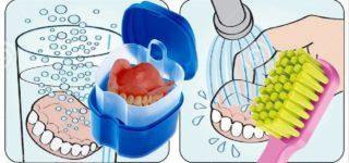 Как правильно чистить съемный зубной протез?